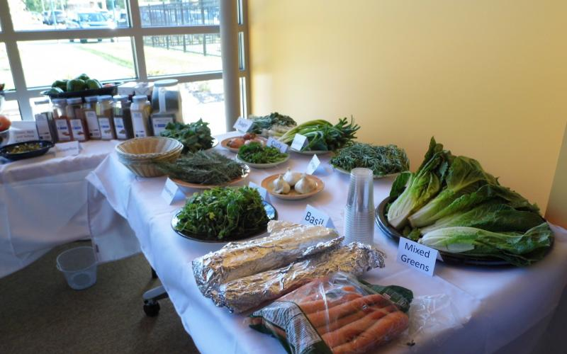 The chefs had access to a pantry of 50 items to help them complete their dishes.